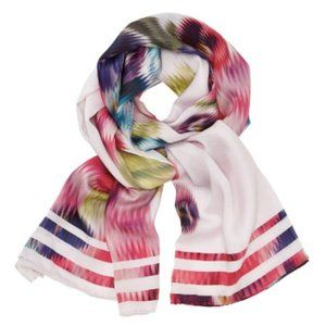 TED BAKER Ellila Expressive Pansy Silk Scarf NWT